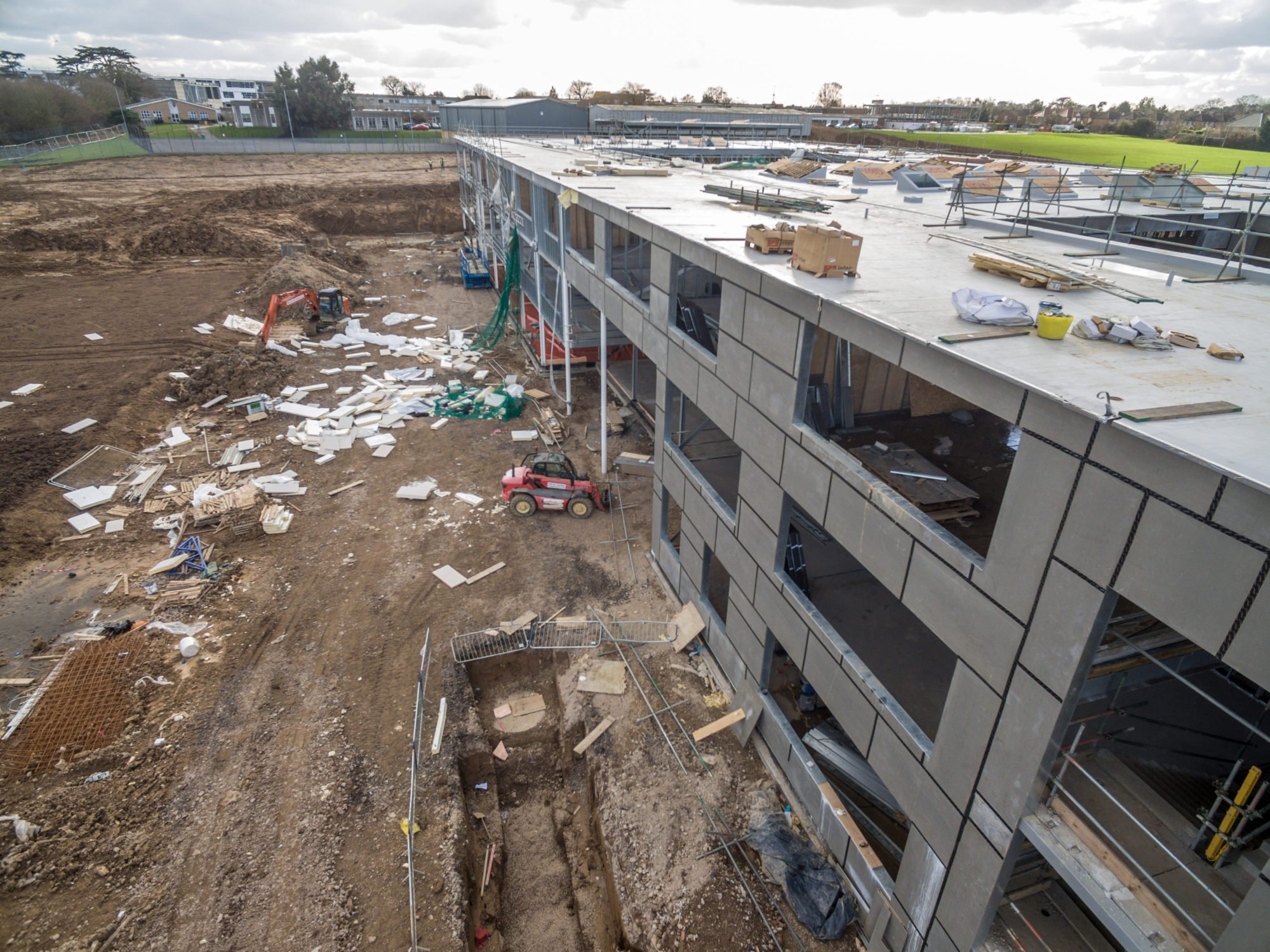 Drone Photography Documenting Construction Site Affected