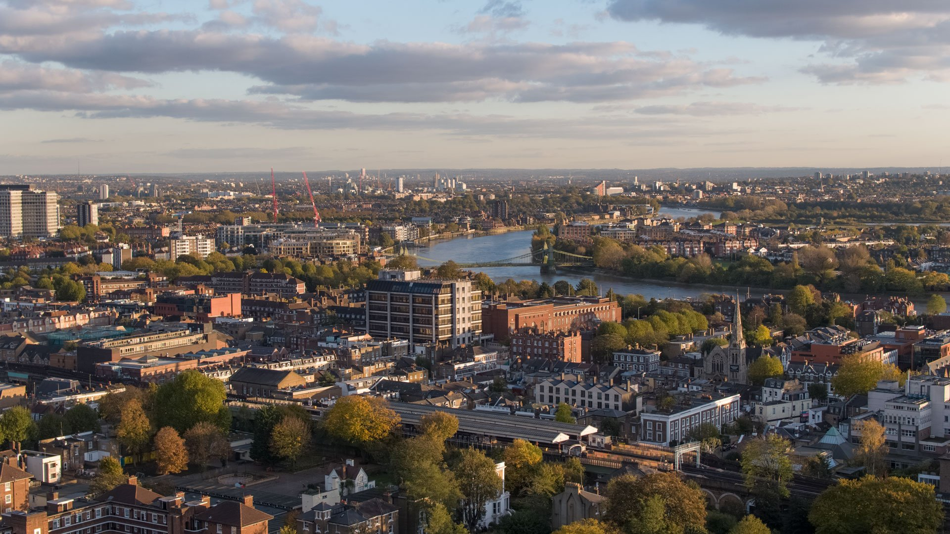 Aerial drone photography for Hammersmith town council