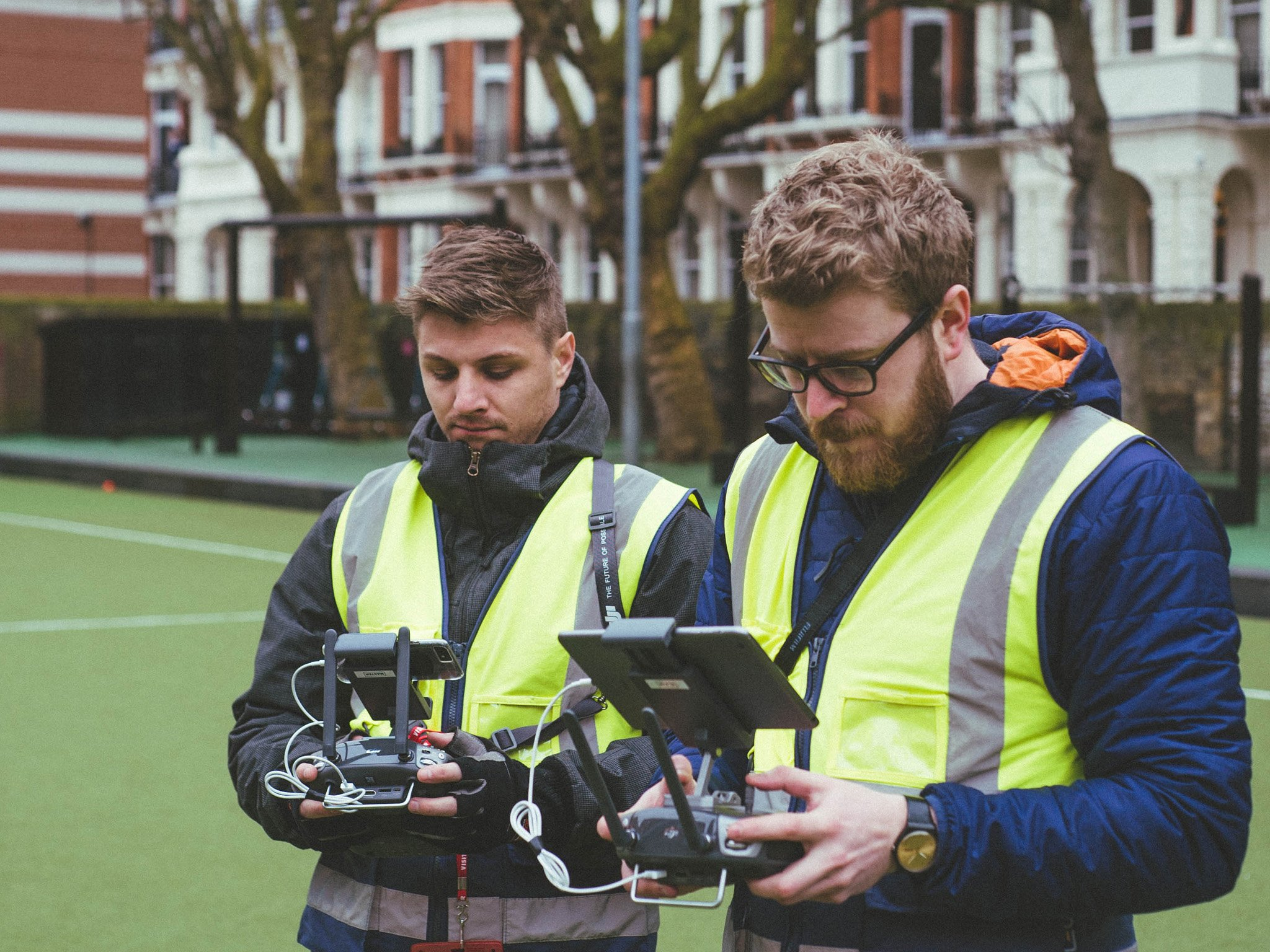 DroneScope crew operating the Inspire 2