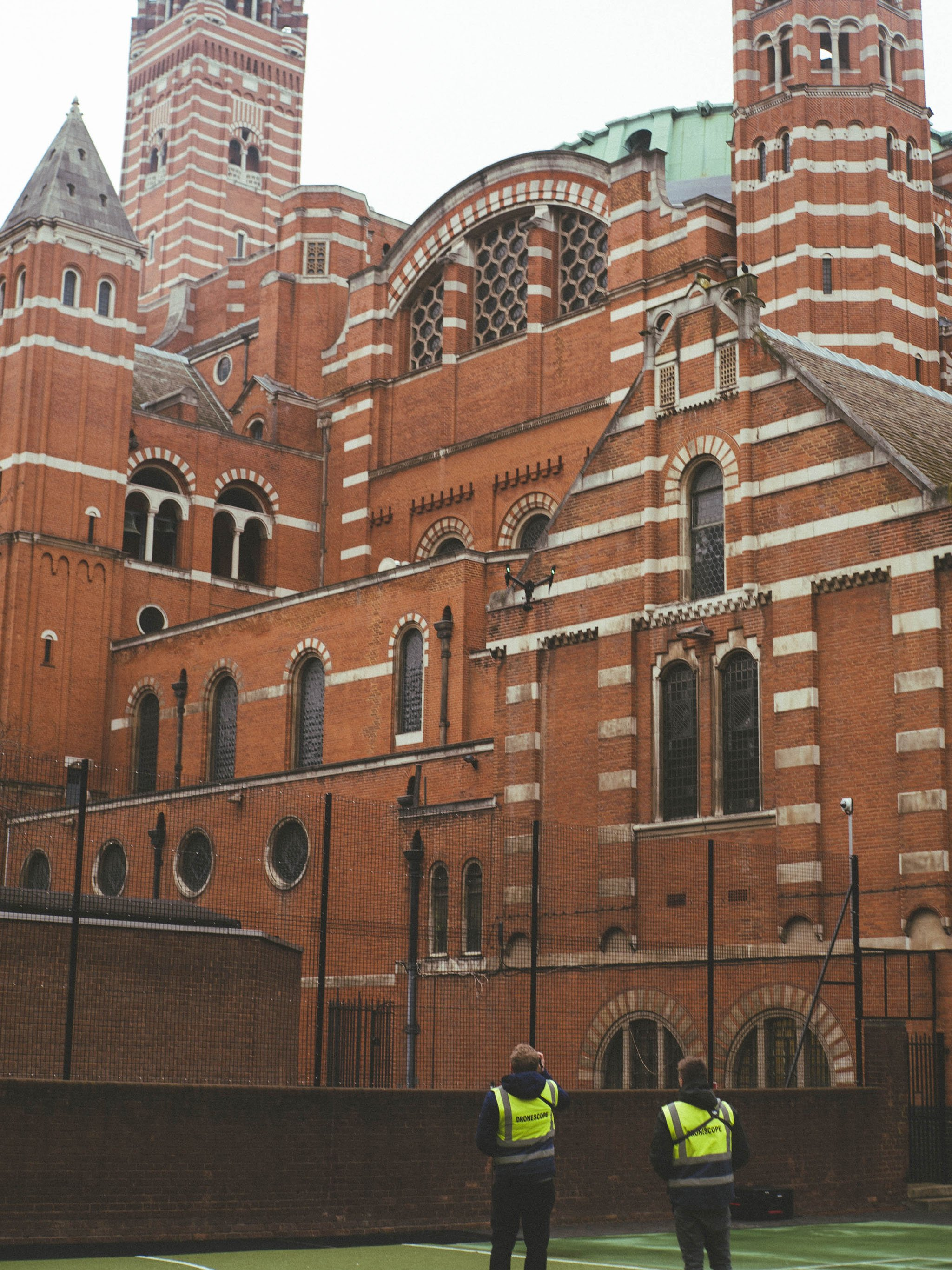 Inspire 2 and drone crew operating at Westminster Cathedral