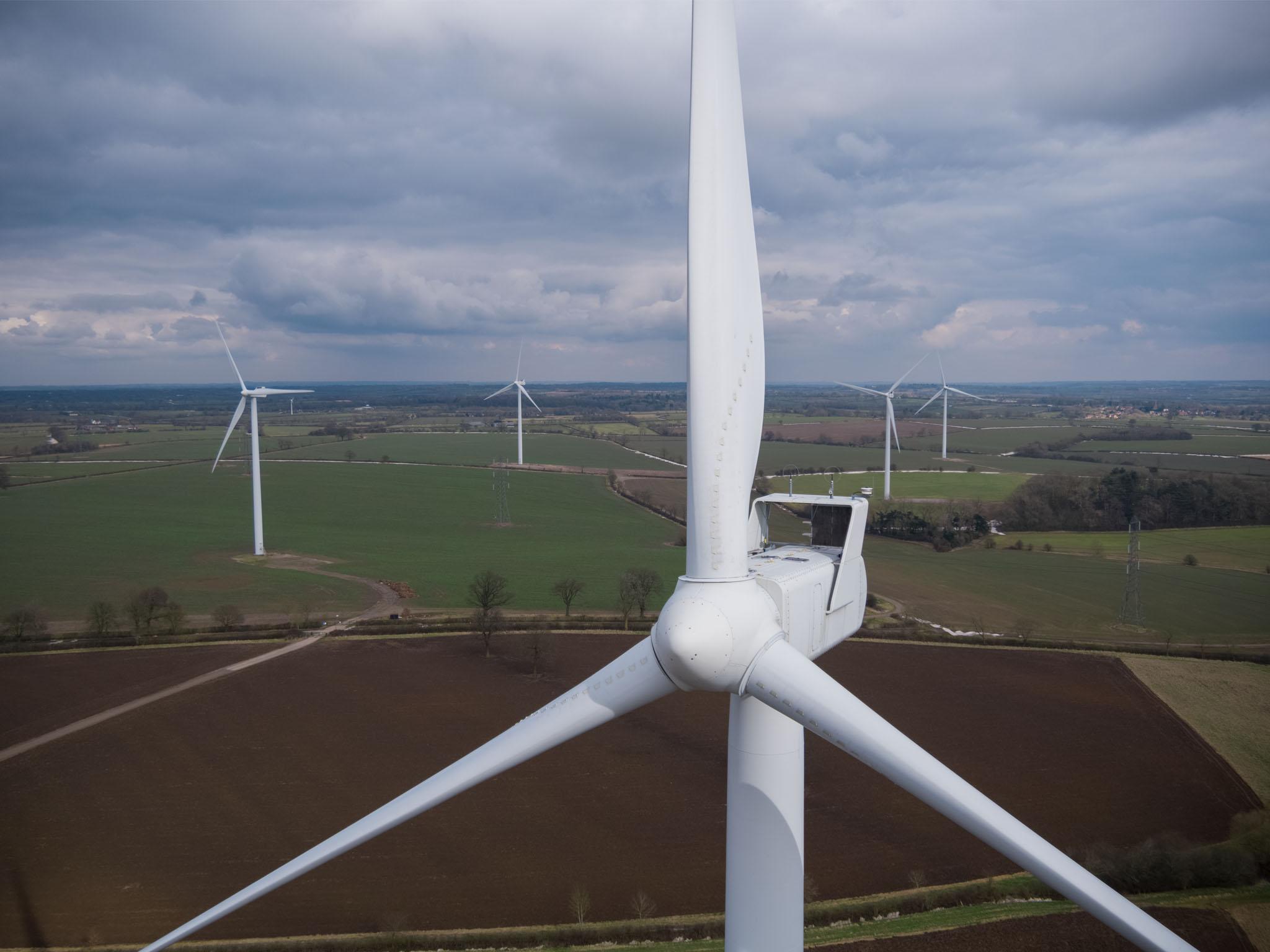 Wind turbine inspection using drone video
