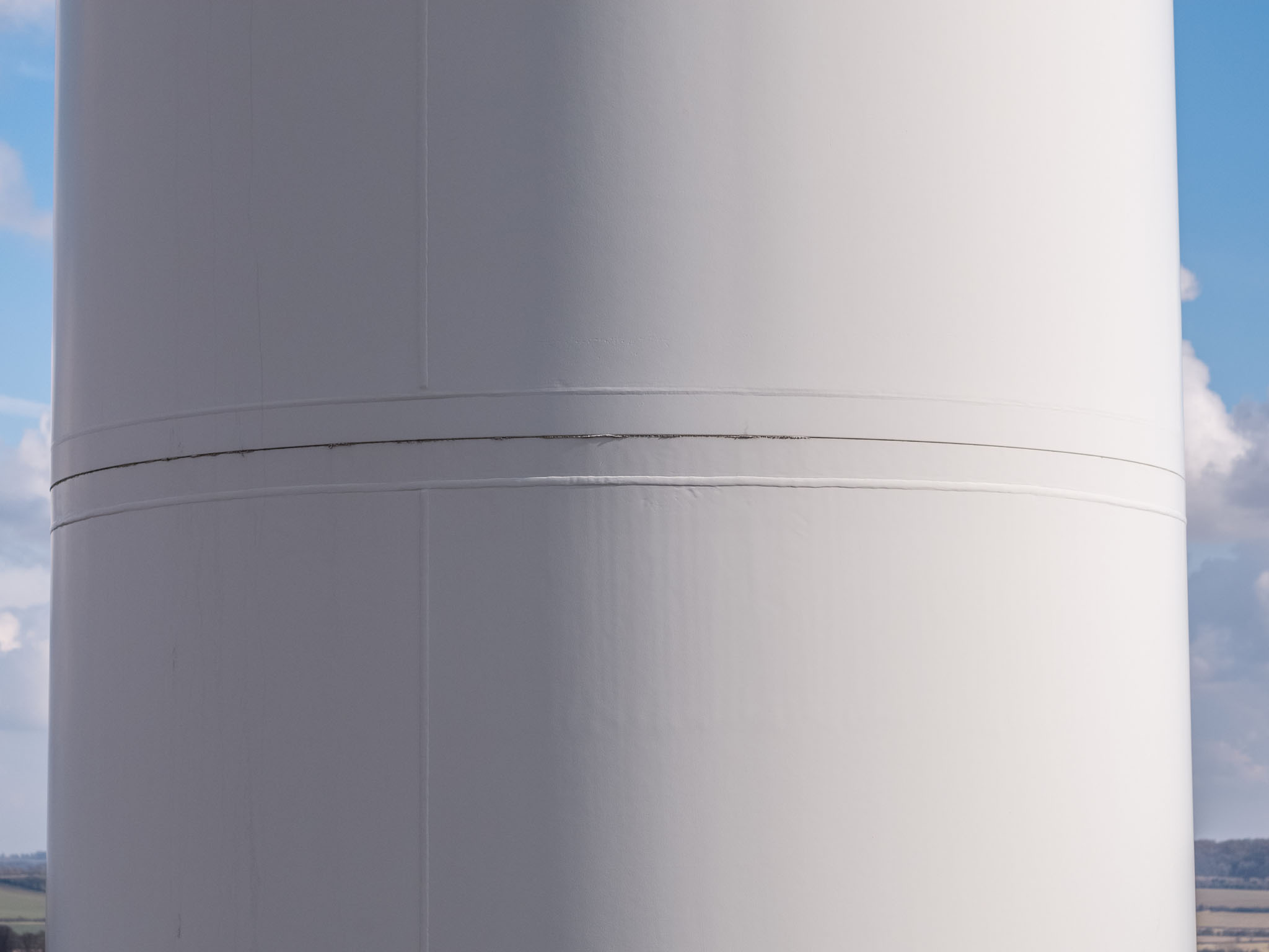 Wind turbine inspection using drones