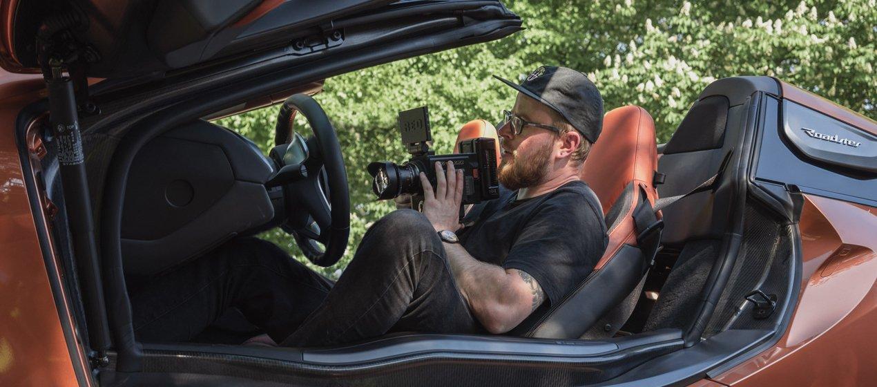 Red Raven Filming Inside a BMW I8