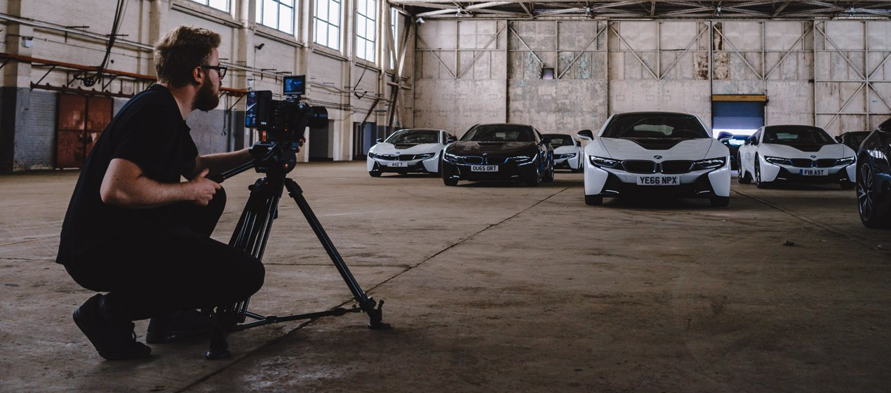BMW I8 filming with R3D