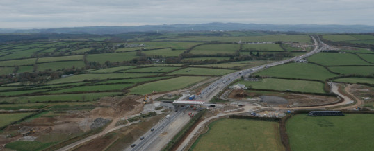 A30 Temple to Higher Carblake Road Improvement  Aerial Filming & Drone Photography