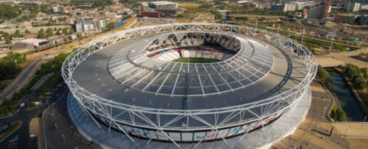 Drone Photography and Aerial Filming Documenting Queen Elizabeth Olympic Stadium, London