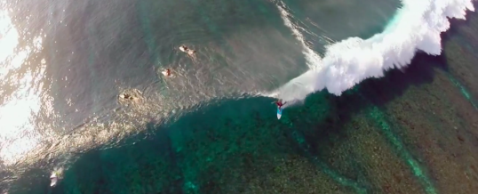 Beautiful surfing filmed from above…