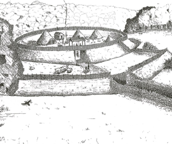 Diagram of an old settlement