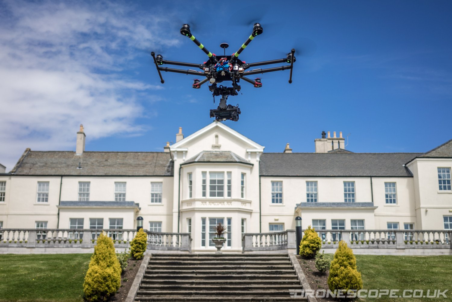 Drone filming Seaham Hall in County Durham