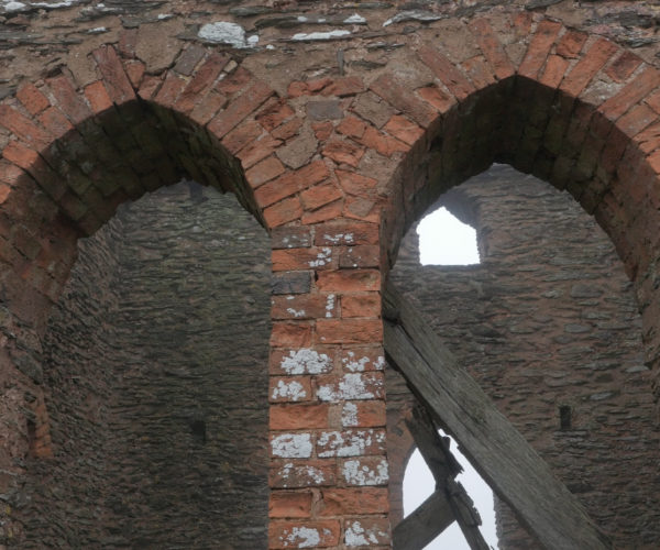 Old ruined window on Willet Hill Tower