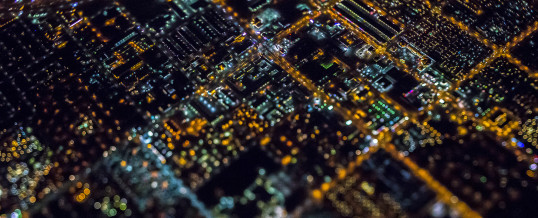 Amazing aerial night photography over Las Vegas