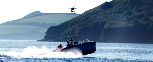 Boat Chase Aerial Film – Cockwells, Cornwall